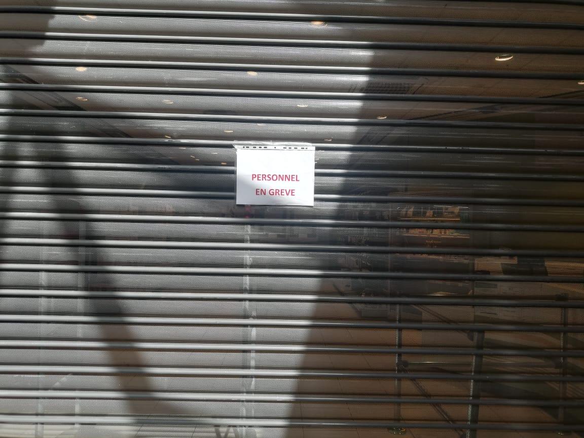 La grève se poursuit à Géant Batelière
