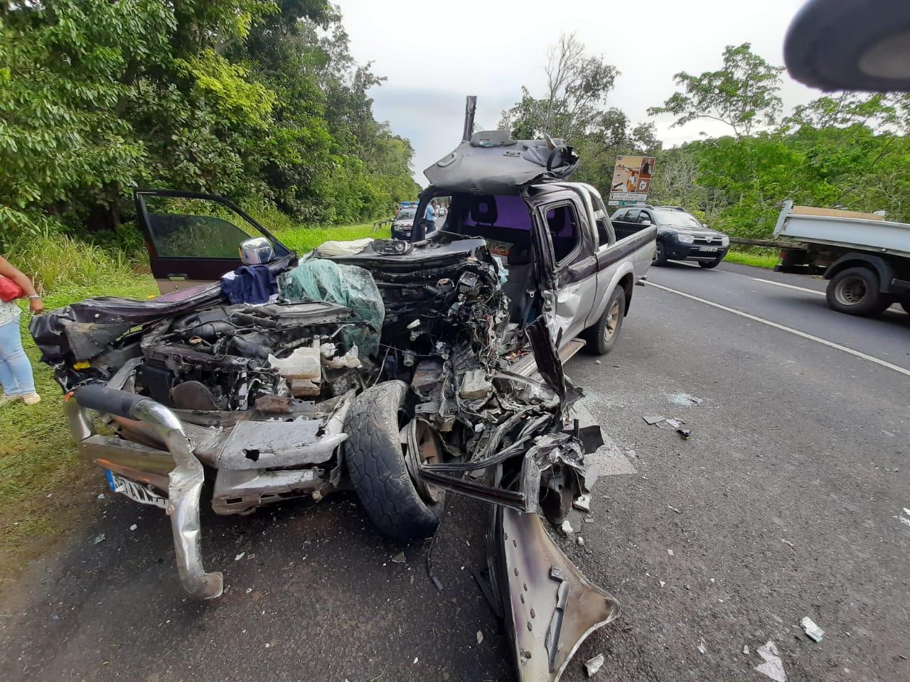 Un blessé grave dans un accident impressionnant à Morne-à-l'Eau