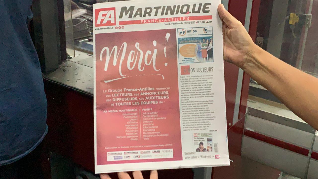 France Antilles : la dernière soirée de publication en images