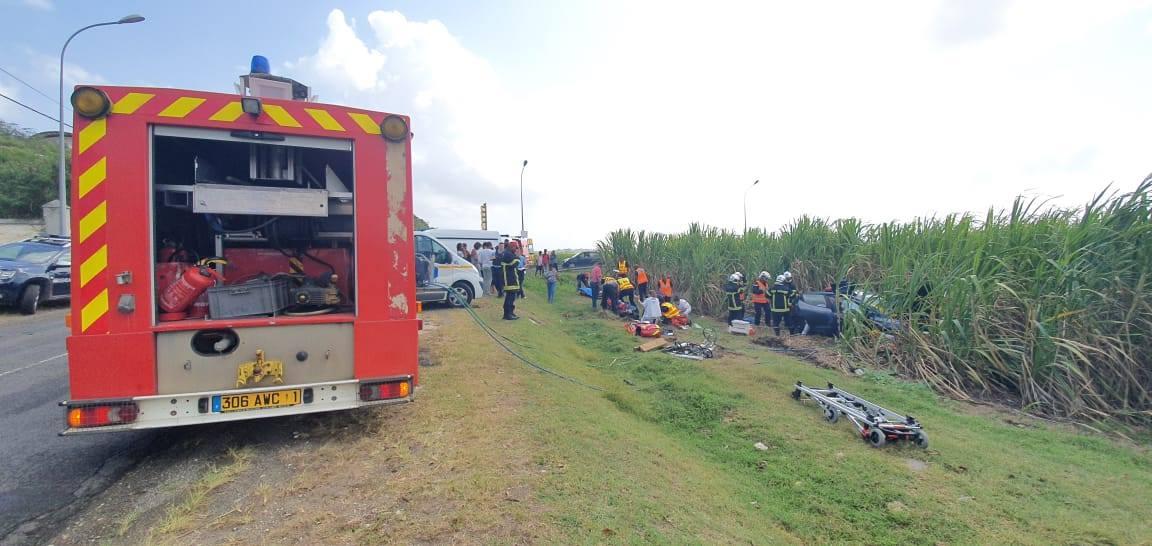 Une collision  fait plusieurs blessées à Saint-François