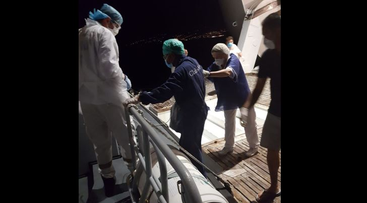 Un membre d'équipage du Club Med 2 évacué par les Forces Armées aux Antilles