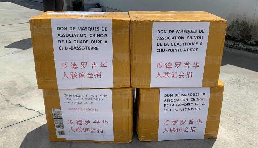 Les chinois de Guadeloupe donnent 12.000 masques aux soignants et policiers