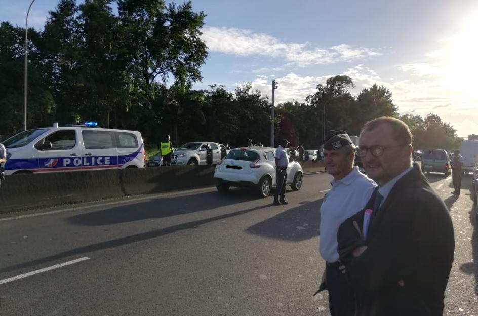 Important contrôle de police sur la nationale avant la Gabarre