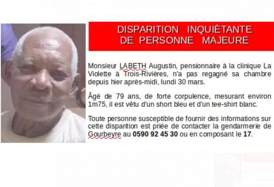 Appel à témoins : avez-vous vu Augustin Labeth ?