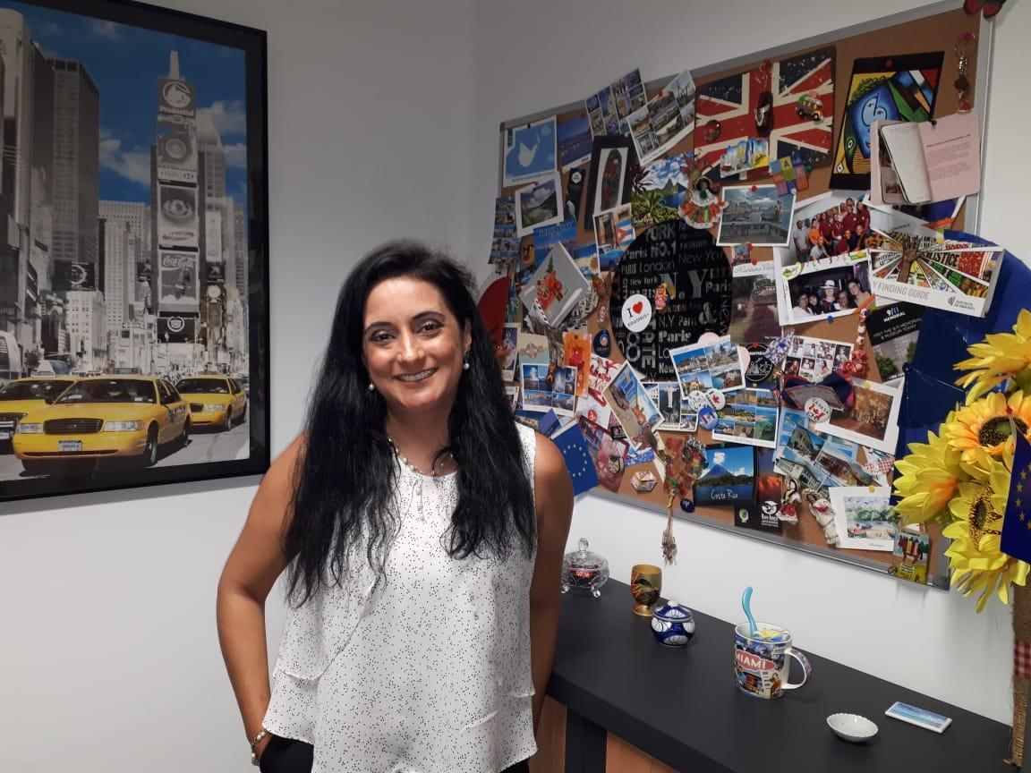 Femme du jour : Violeta CALVO BERNET. Responsable du service international de l'EGC