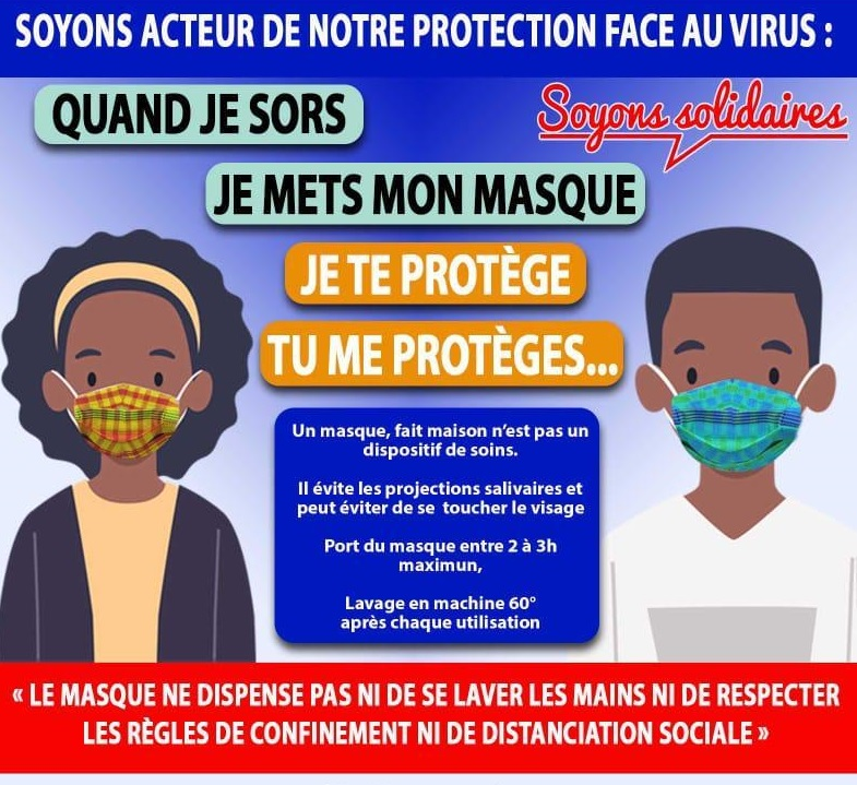 5000 masques artisanaux offerts aux habitants de Basse-Terre