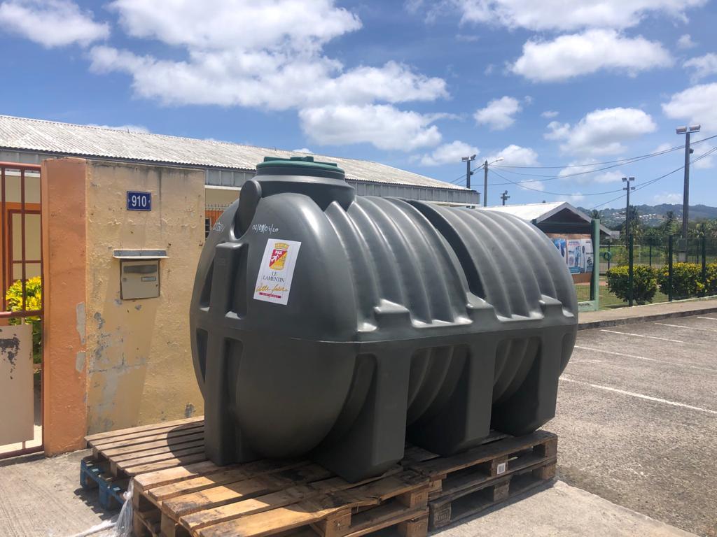 Sécheresse : Près de 30 000 litres d'eau disponibles au Lamentin