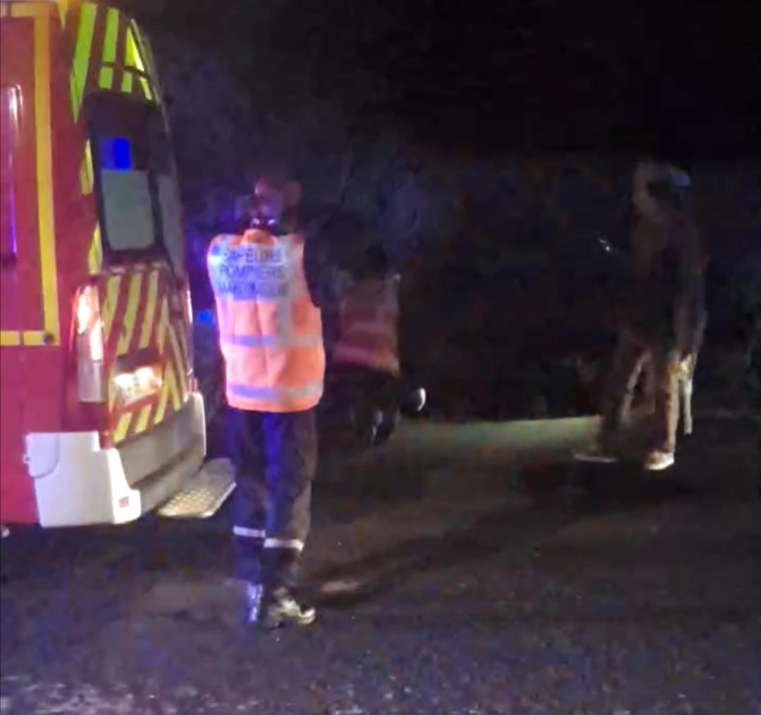 Deux blessés dans un accident de la route au Lamentin