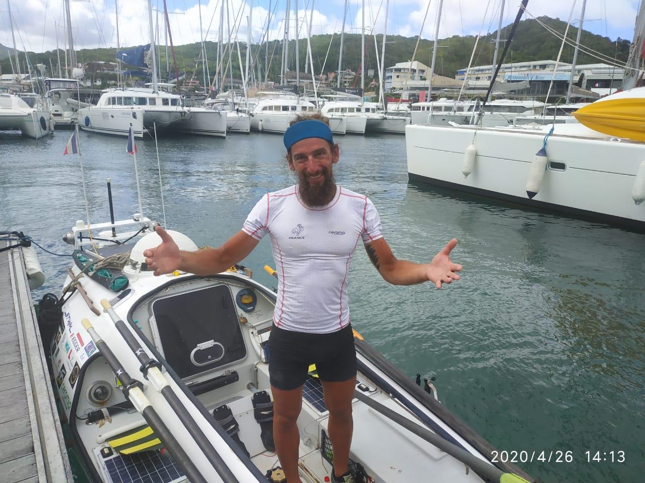 Stéphane Brogniart est arrivé au Marin après 72 jours en mer