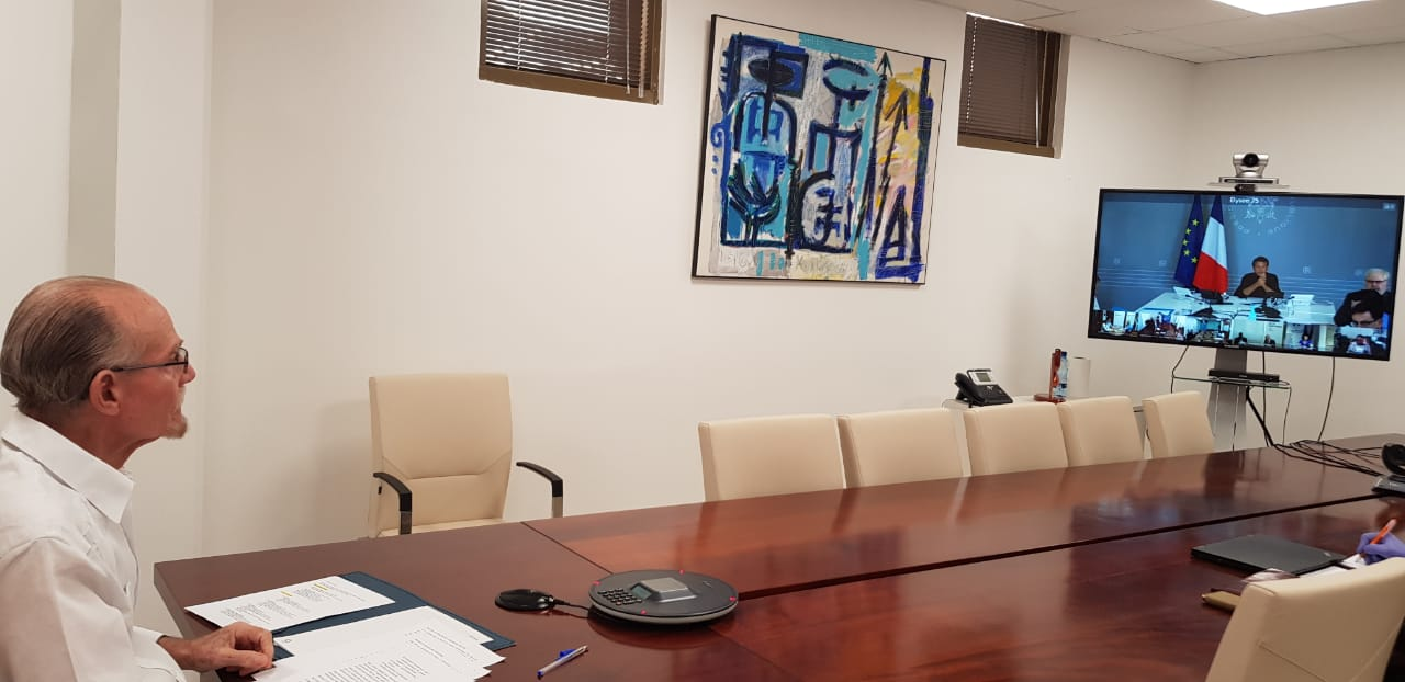 La CTM participe à une visioconférence avec le Président de la République