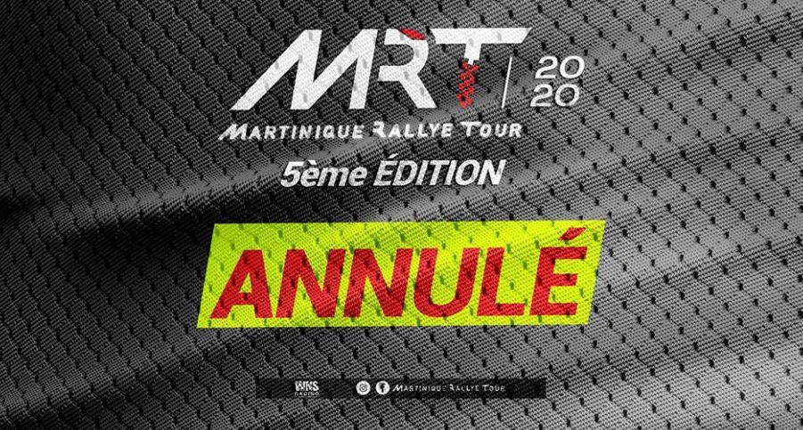 Le Martinique Rallye Tour 2020 est annulé