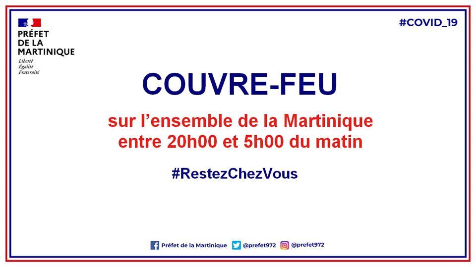 COVID-19 : fin du couvre-feu en Martinique