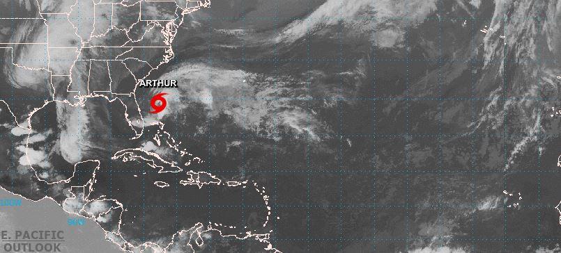 Arthur est la première tempête de la saison cyclonique 2020