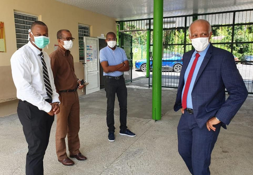 Le Recteur d'Académie visite des écoles du sud Basse-Terre