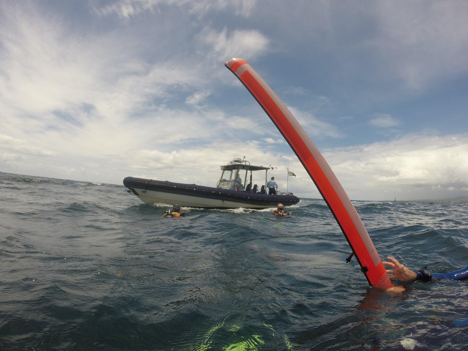 Le corps de l'apnéiste repêché par les gendarmes nautiques
