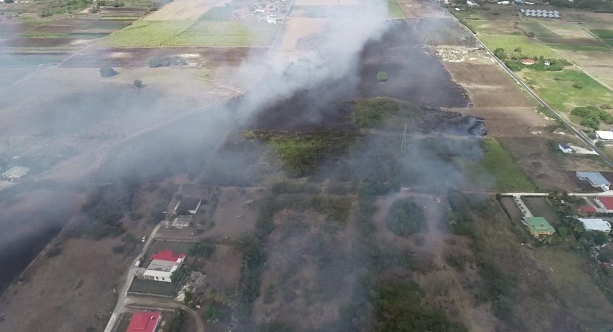 Encore un important feu de canne à Saint-François
