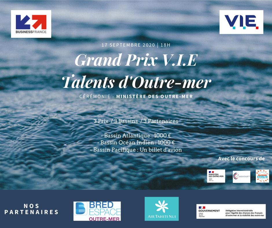 Grand Prix V.I.E : valoriser nos talents ultramarins à l'international