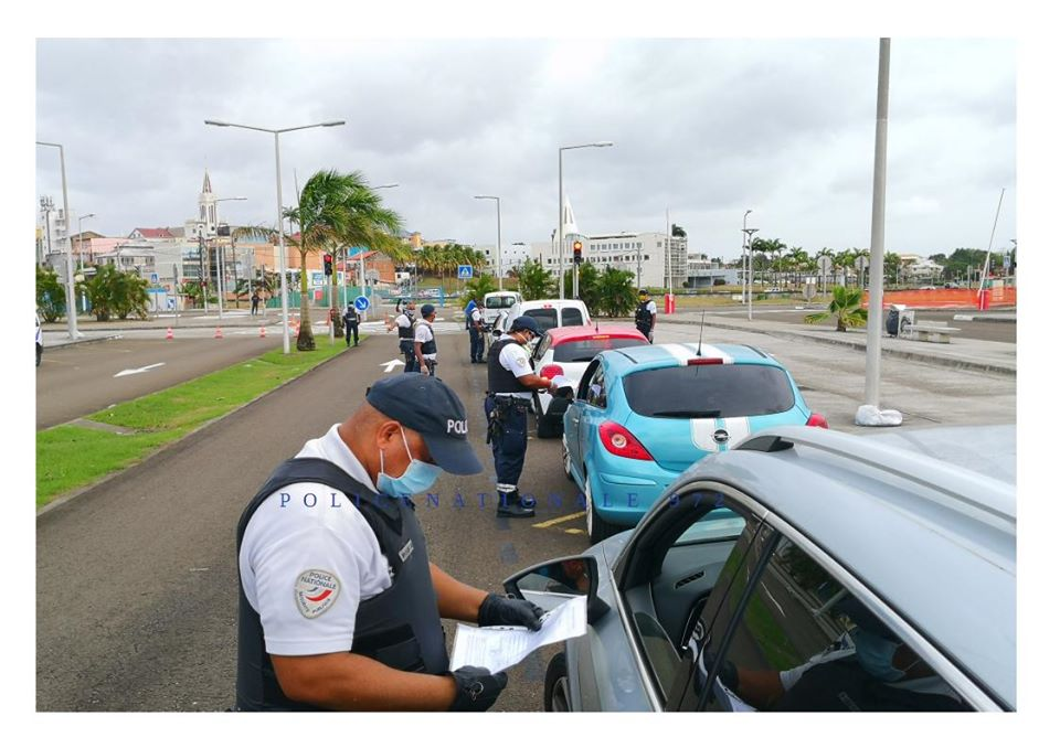 Près de 400 véhicules contrôlés ce jeudi 7 mai au Lamentin