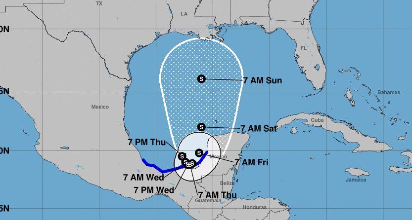 Cristobal, la troisième tempête tropicale de la saison 2020