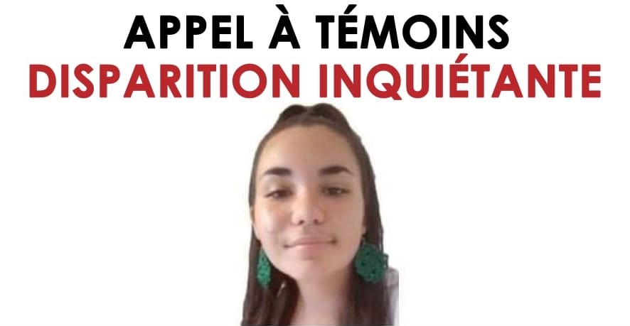 Disparition inquiétante d'une jeune femme de 16 ans
