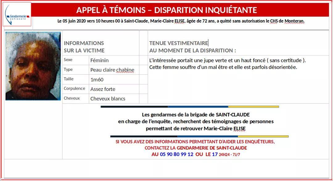 Nouvelle disparition inquiétante à Saint-Claude