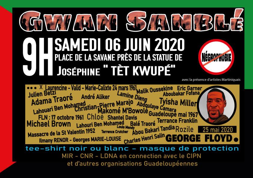 Meurtre de George Floyd: des rassemblements prévus en Martinique