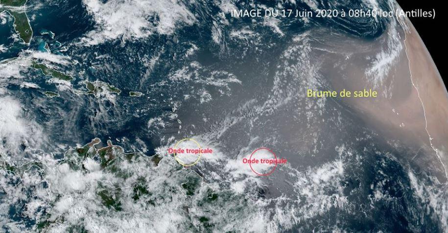 De la brume de sable et une onde tropicale concerneront la Martinique ce week-end