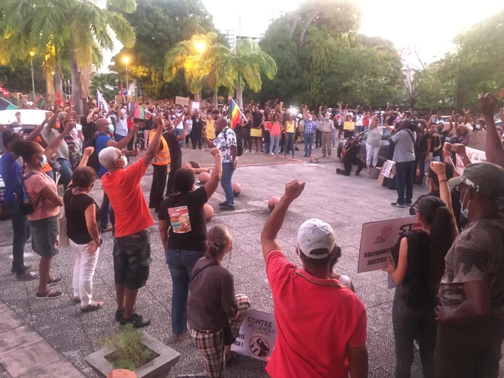 La Martinique rend hommage à George Floyd