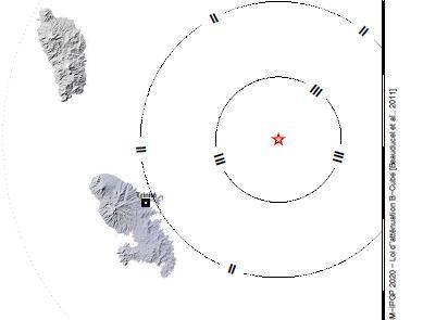 Léger tremblement de terre en Martinique ce dimanche soir