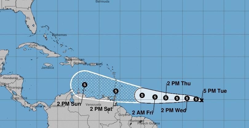 L'onde tropicale 19 est devenue dépression tropicale et continue de se renforcer