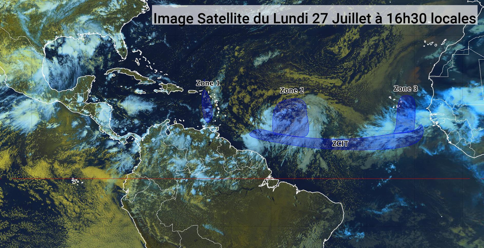 L'onde tropicale 21 poursuit sa trajectoire en direction des Antilles