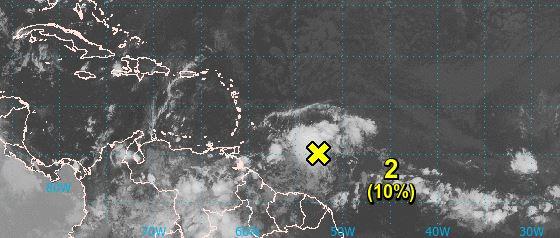Une forte onde tropicale approche par le sud de l'Arc Antillais