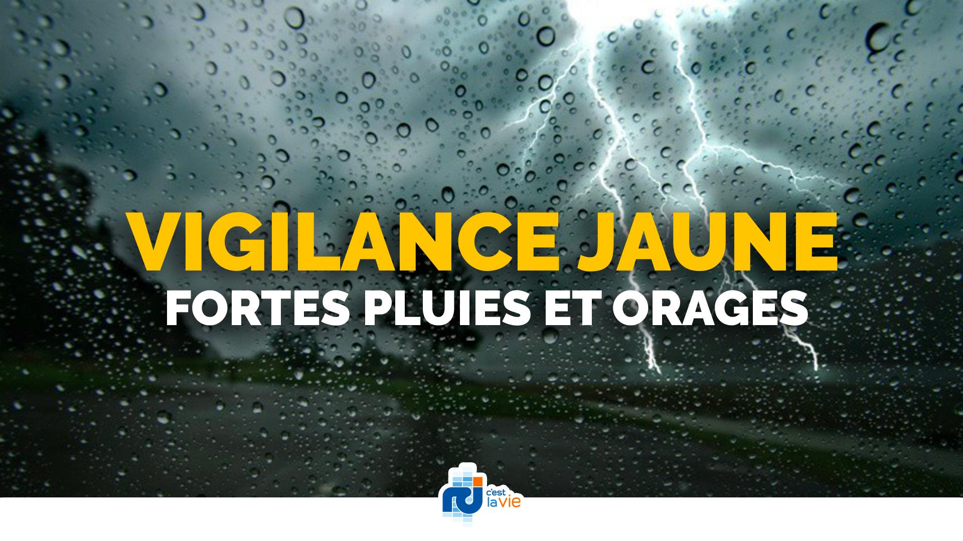 Vigilance jaune pour fortes pluies et orages