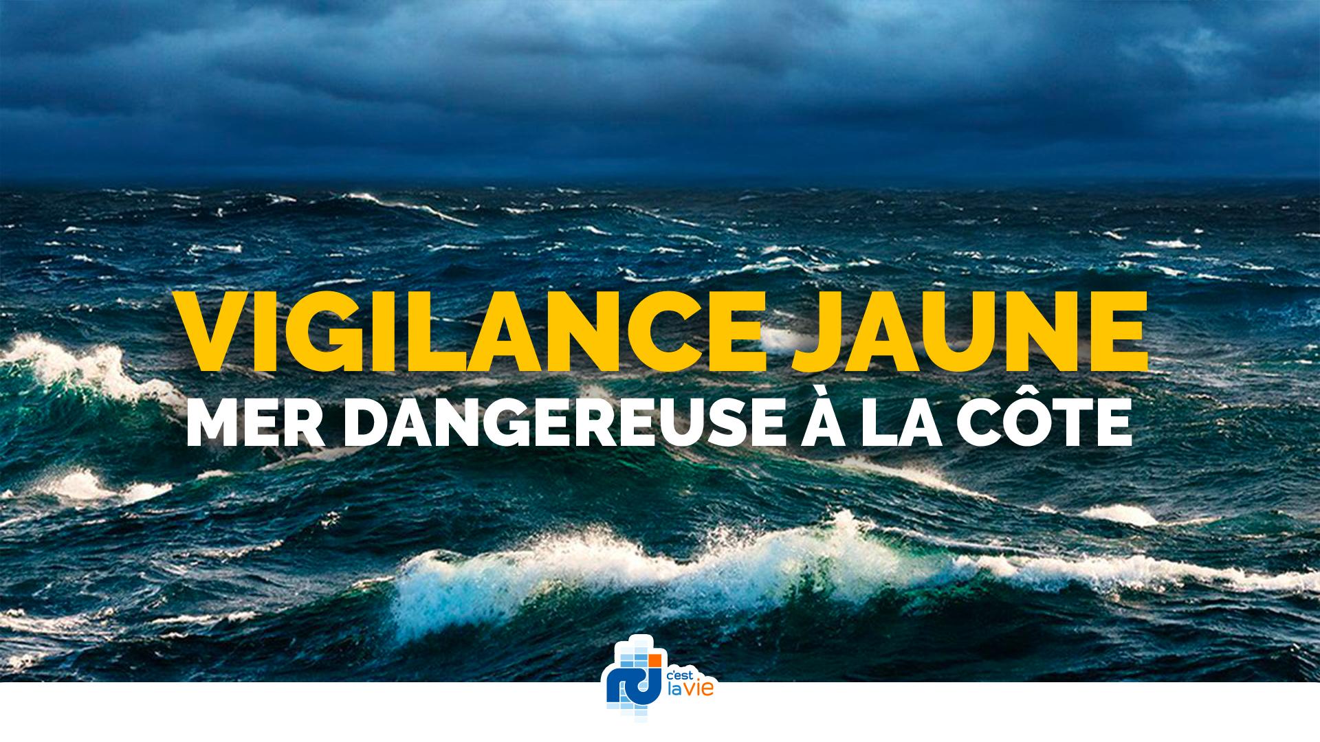Météo : la vigilance jaune pour mer dangereuse toujours d'actualité