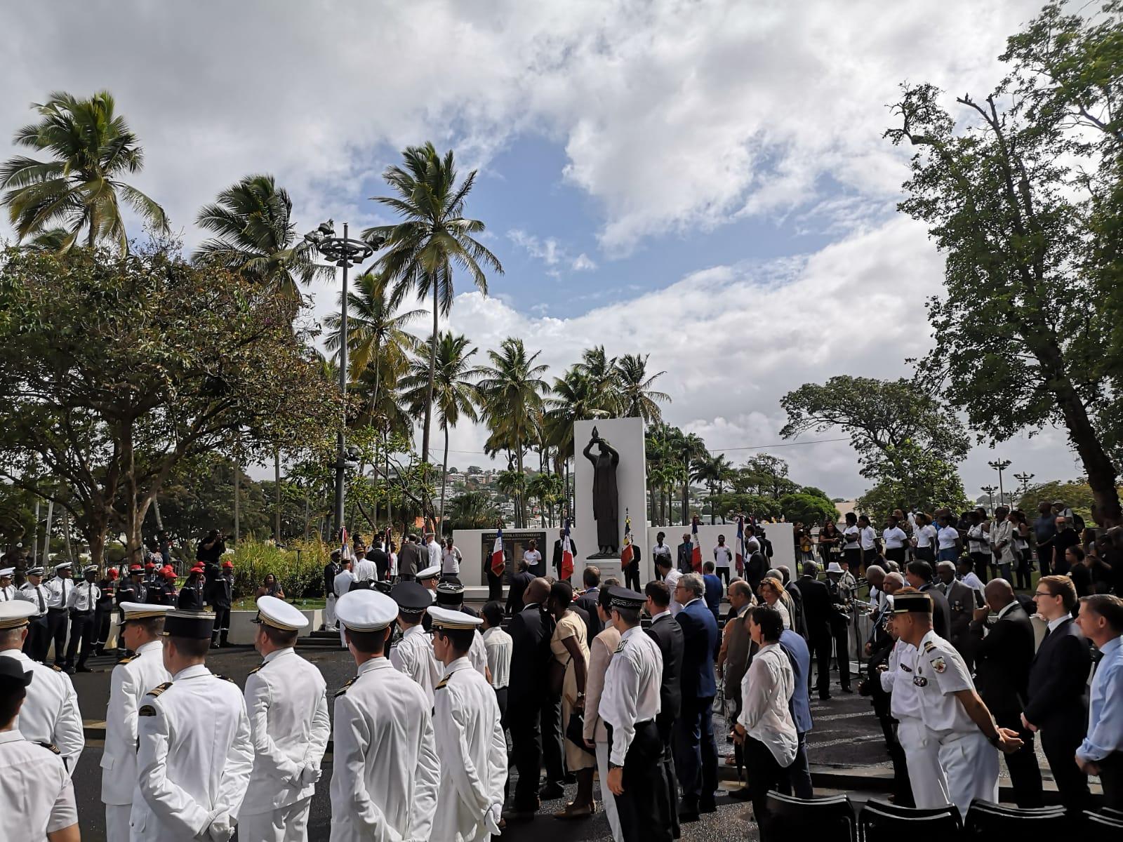 La cérémonie de la fête nationale célébrée à Fort-de-France