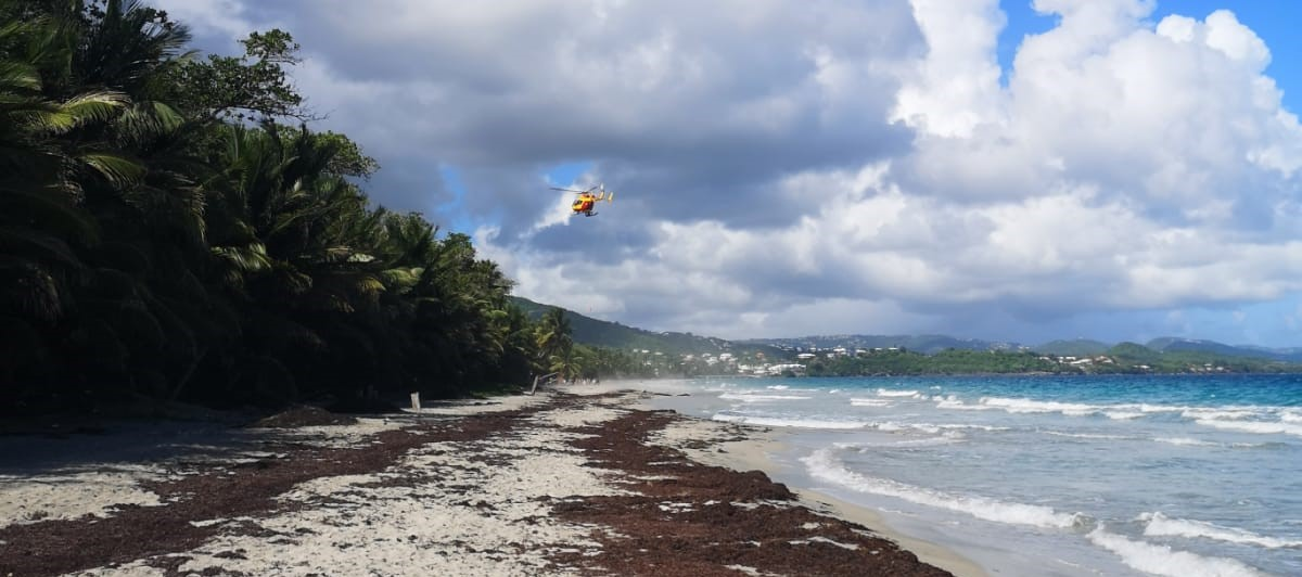 Décès d'un quinquagénaire sur la plage du Diamant