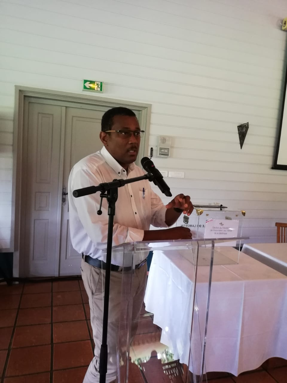 Justin Pamphile prend la présidence de l'Association des Maires de Martinique