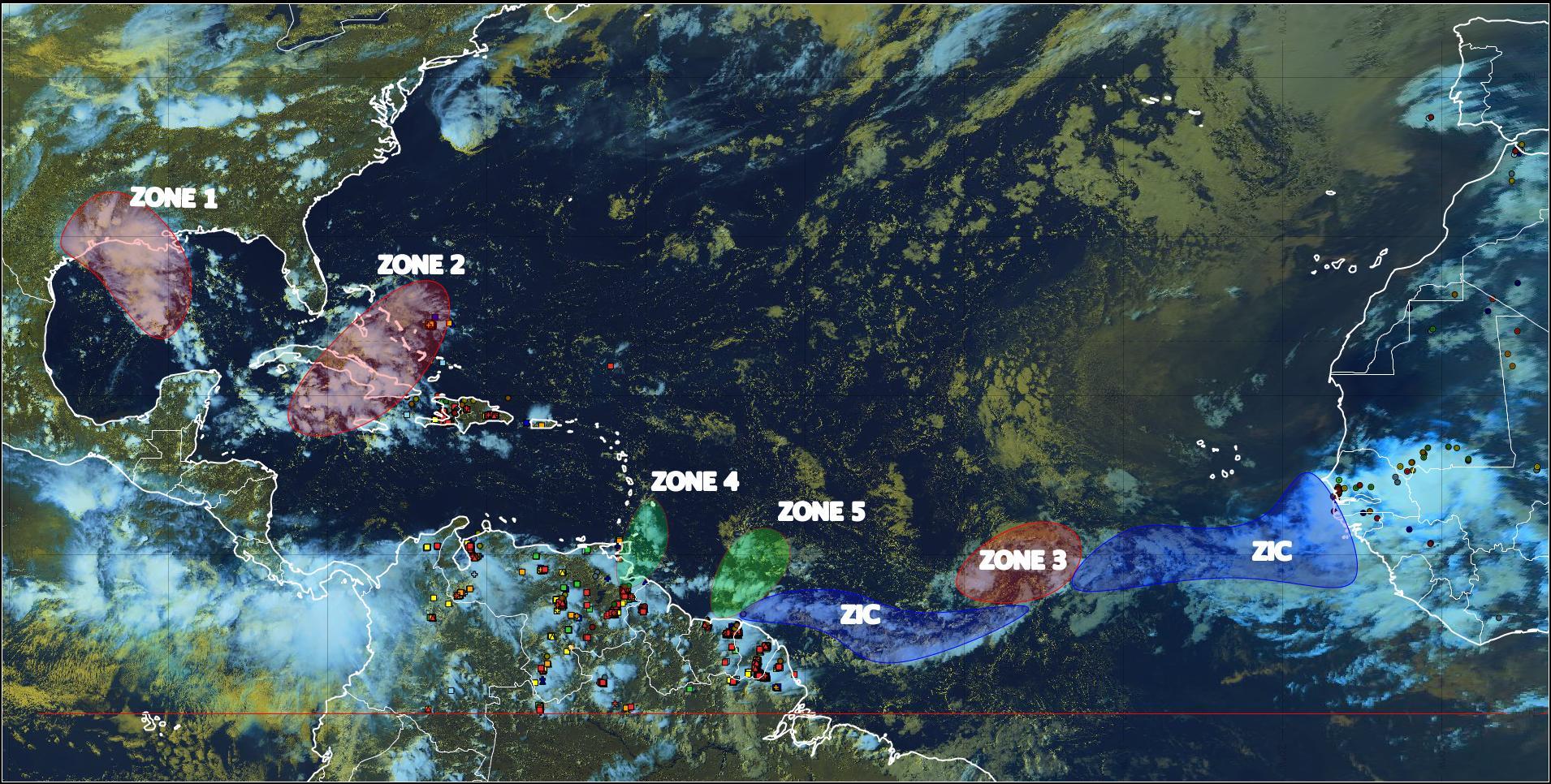 Une onde tropicale placée sous surveillance par Météo France et le NHC