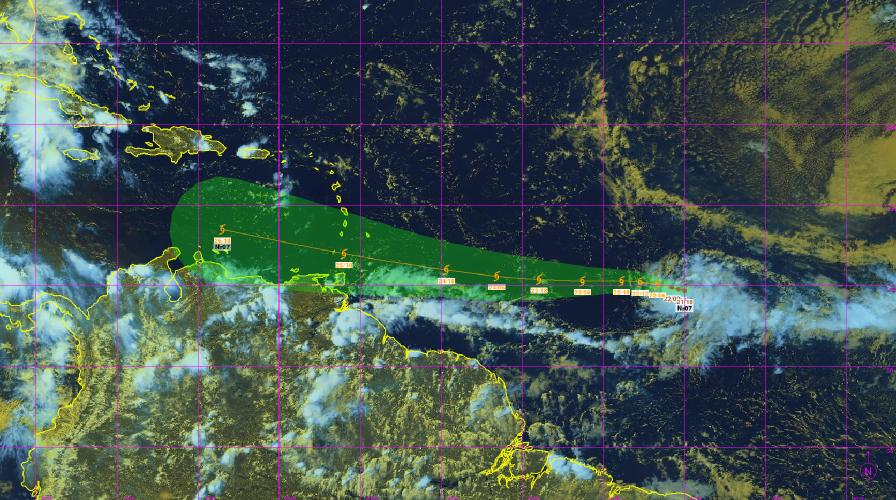 La dépression tropicale 7 continue sa progression vers l'Arc Antillais et se renforcera dans la journée