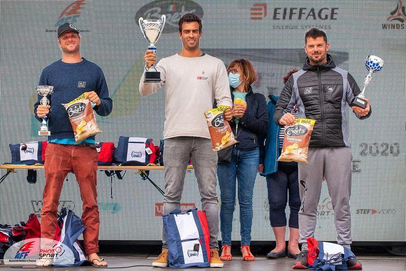 Tristan Algret remporte la 1ère étape du championnat de France de windsurf