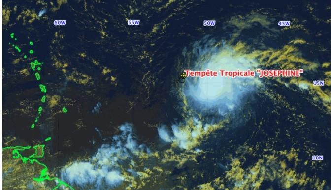 La 10e tempête tropicale baptisée Joséphine