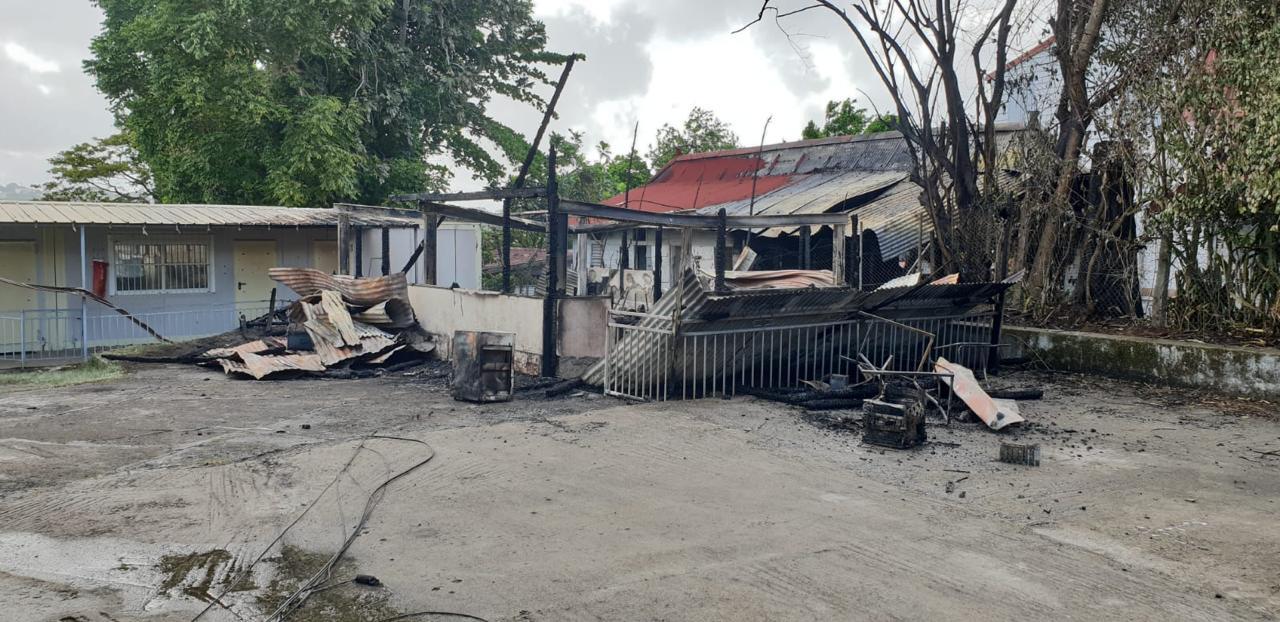 Le local annexe de la FOL ravagé par les flammes