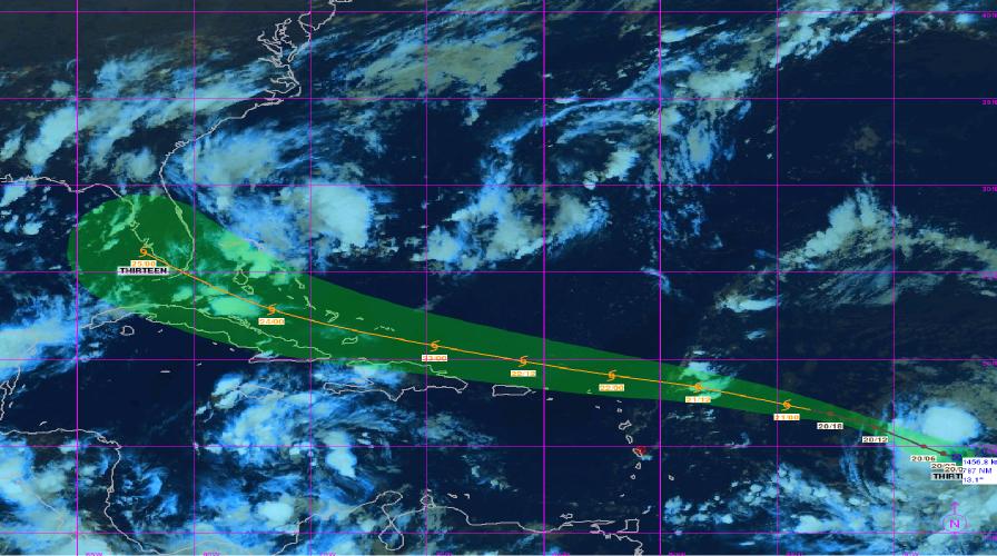 La dépression tropicale 13 pourrait concerner le nord des Petites Antilles