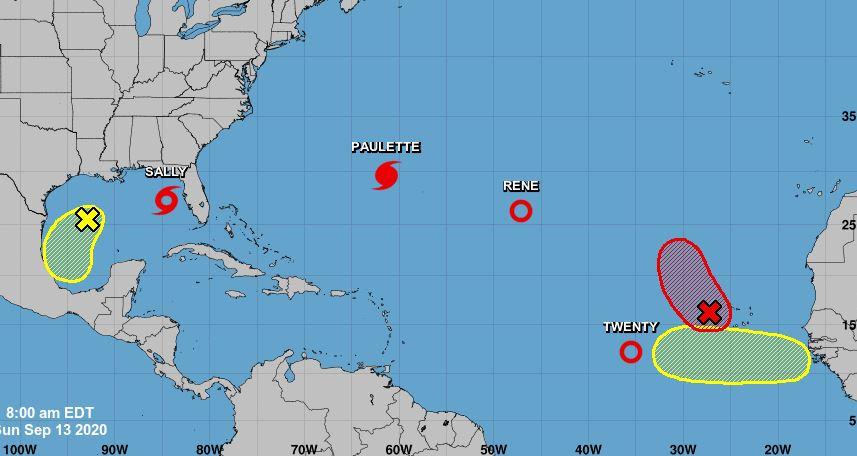 Le bassin atlantique en ébullition avec quatre phénomènes cycloniques actifs