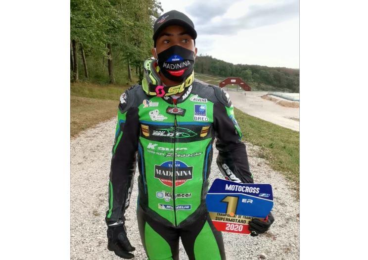 Axel Marie-Luce est champion de France supermotard - catégorie S2