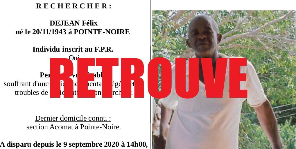 Félix Dejean a été retrouvé à Pointe-à-Pitre