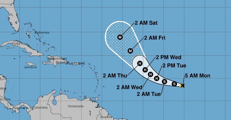 La tempête Teddy est la 19e tempête tropicale de l'historique saison cyclonique 2020