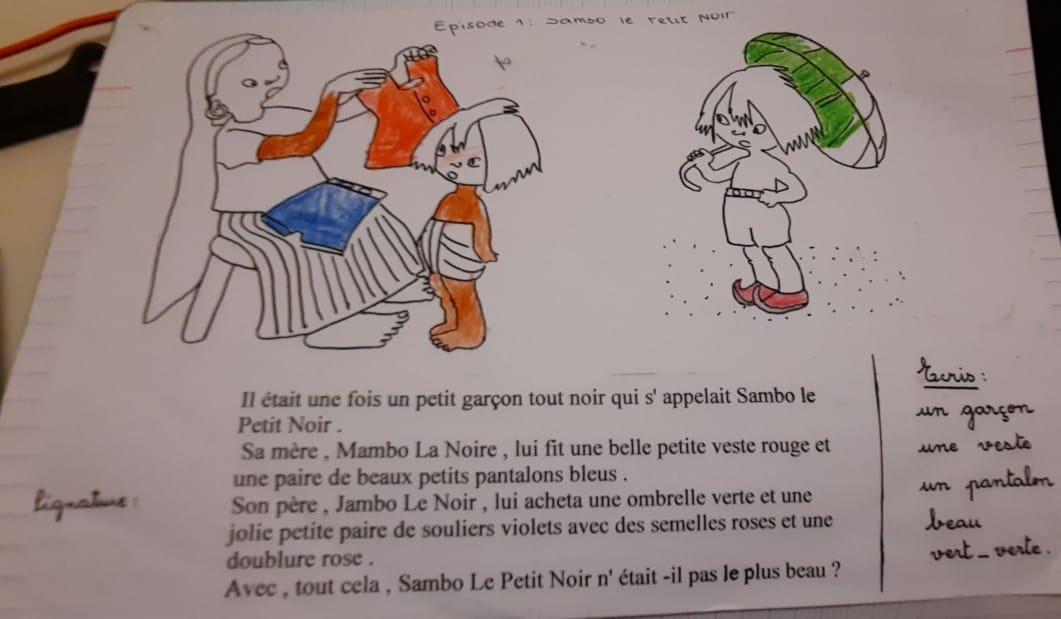 """""""Sambo le petit noir"""", un livre rempli de stéréotypes racistes est étudié dans une école de Martinique"""
