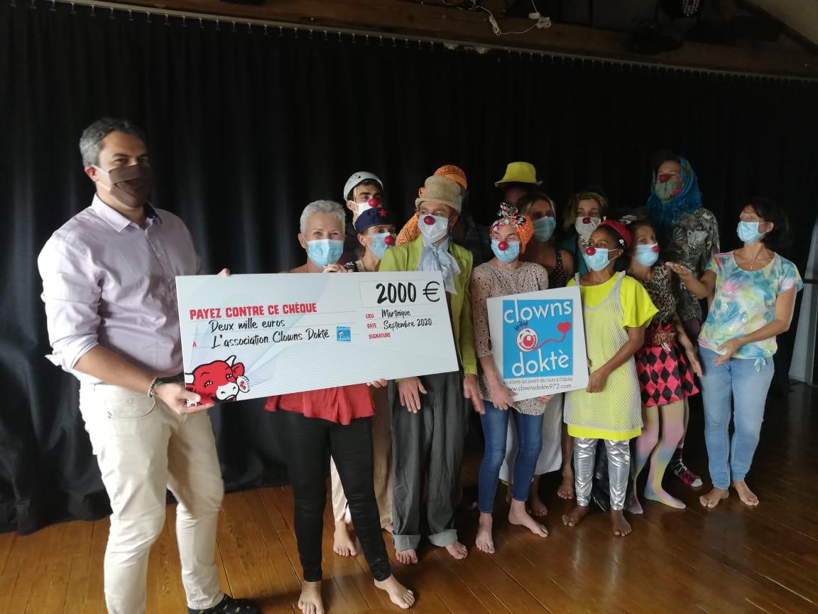 2 000 euros pour l'association Clown Doktè
