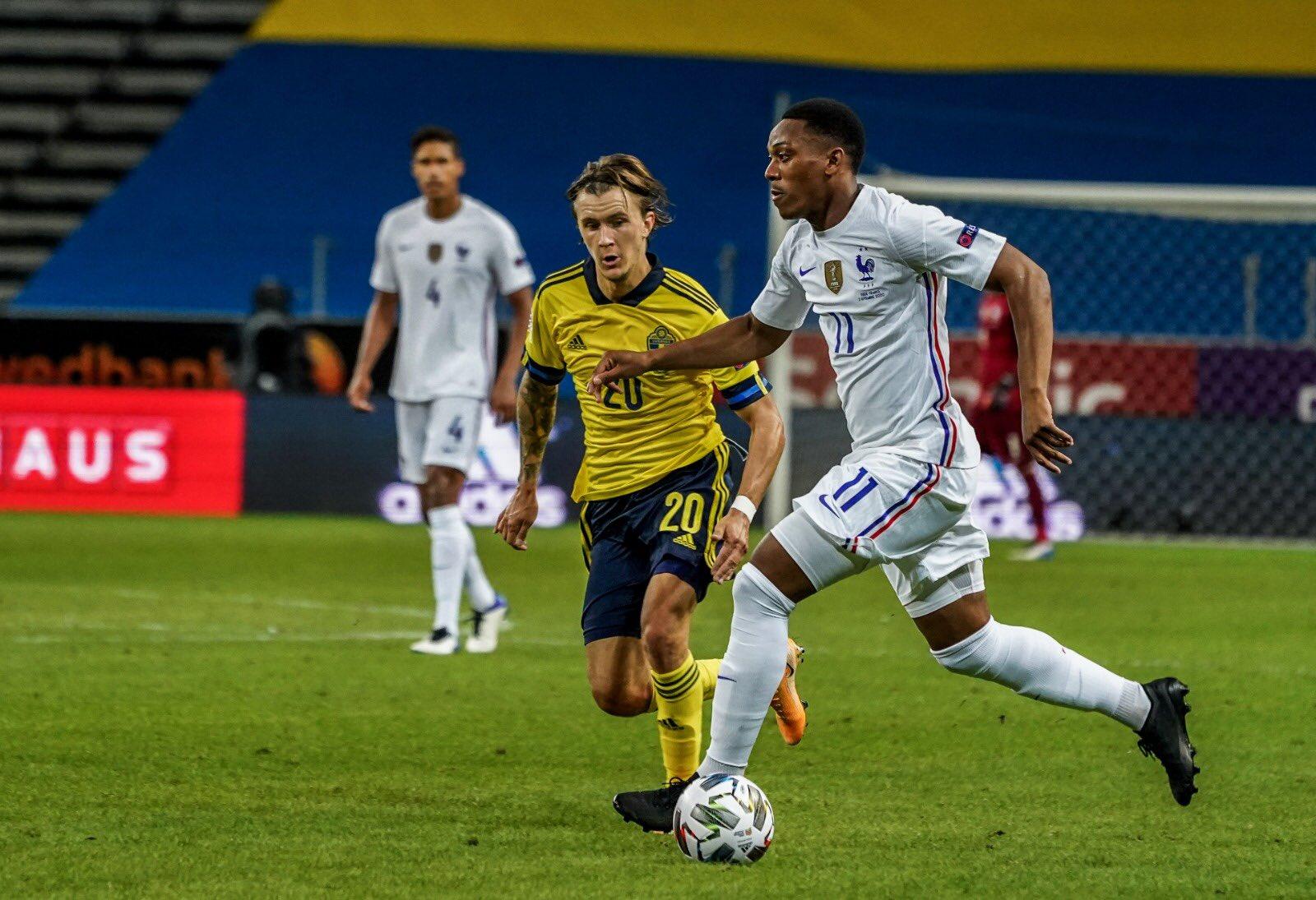 Football : Anthony Martial participe à la victoire des Bleus face à la Suède